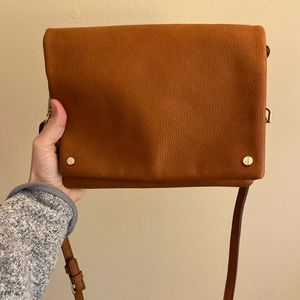 Street Level brown triple compartment crossbody